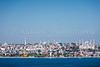 The city skyline from the Sea of Marmara in Istanbul, Turkey, Eurasia.