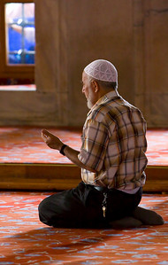 Blue Mosque Worshiper