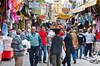 An open air street shopping market in Izmir, Turkey, Eurasia.