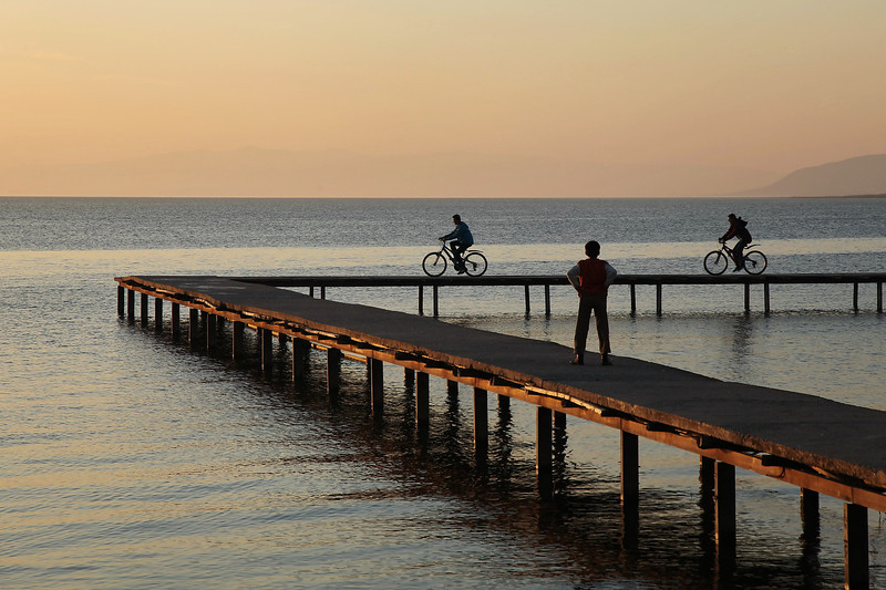 On the pier, Iznik, Turkey