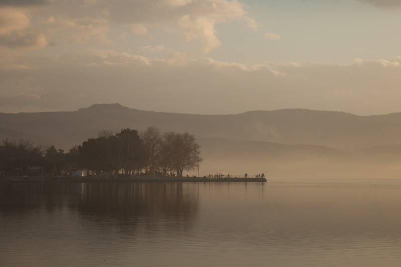 Misty sunset, Lake Iznik, Iznik, Turkey
