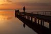 Huddle on the pier, Lake Iznik, Iznik, Turkey
