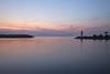 Marina lighthouse, Lake Iznik, Iznik, Turkey