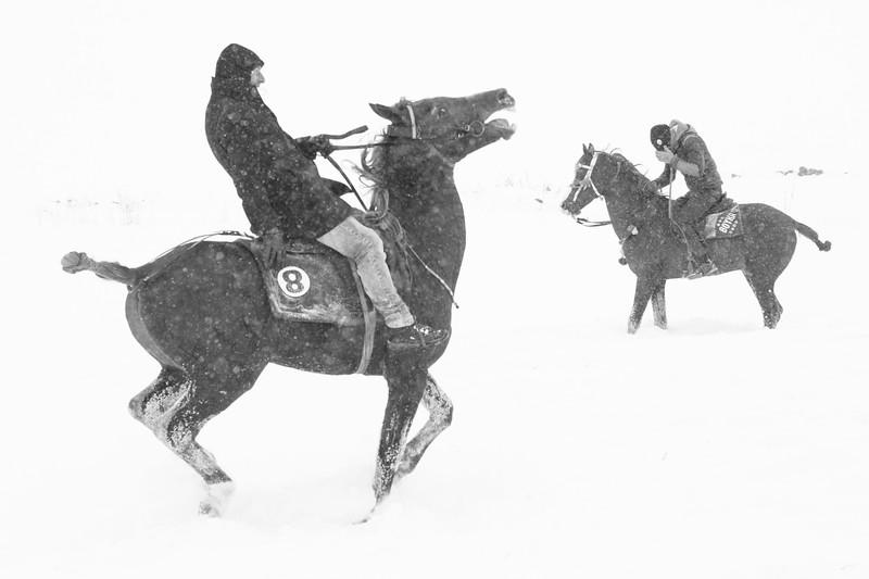 In the snow, Başköy, Turkey