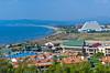 The beach and resort hotel in Kusadasi, Turkey, Eurasia.