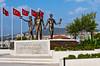 Ataturk and youth monument a the port in Kusadasi, Turkey, Eurasia.