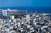 An aerial view of the port city of Mersin, Turkey, Eurasia.
