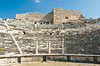 The restored ruins of the theater in the ancient city of Miletus, Turkey, Eurasia.