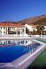 The pool area at the Hierapolis Thermal Resort in Karahayit near Hierapolis, Turkey.