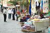 Street market in Karahayit, Turkey.