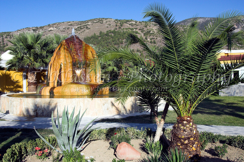 The thermal water fountain at the Hierapolis Thermal Resort near Hierapolis, Turkey.