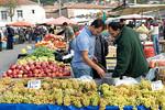 The fruit and vegetable market in Pergamum, Turkey.