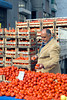 Tomatoes at the fruit and vegetable market in Pergamum, Turkey, Eurasia.