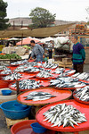 Fish for sale in the street markets of Pergamum, Turkey.