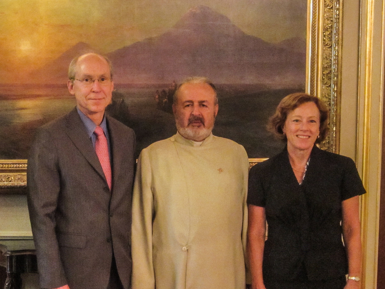 Acting Patriarch Ateşyan with Consul General and Mrs. Kilner
