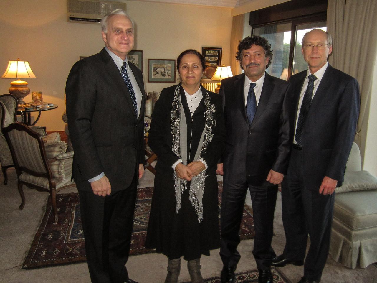 Rakel & Hosrof Dink with Amb. Ricciardone and Consul General Kilner