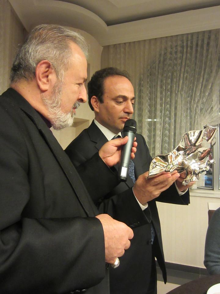 Acting Patriarch Ateşyan and Mayor Baydemir