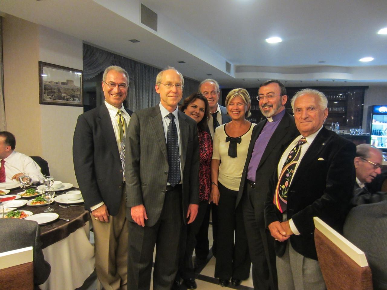 Armenian-American Delegation at Mayor's Dinner