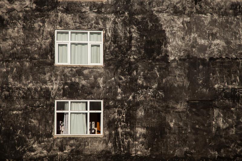 Wall with windows, Rize, Turkey