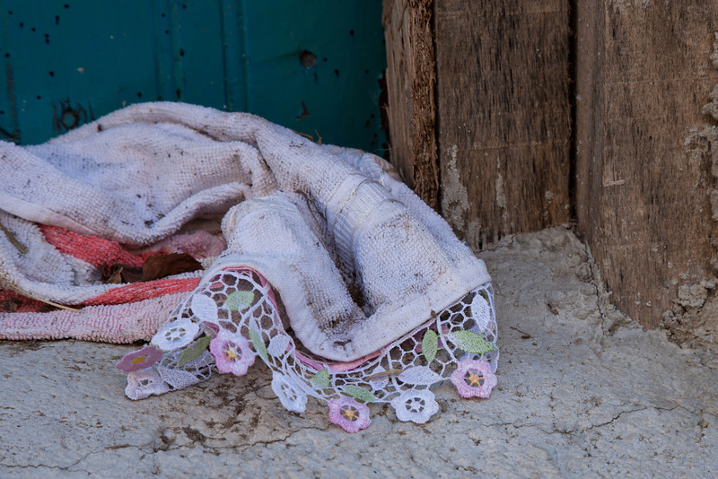Abandoned towel, Sansarak, Iznik, Turkey
