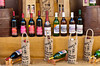 A display of local wines for sale in the market of Sirinci, Turkey, Eurasia.