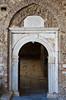 The entrance door to the restored St. John the Baptist church in Sirinci, Turkey, Eurasia.