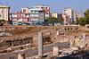 The excavated former Roman street in Tarsus, Belediyesi, Turkey, Asia Minor.