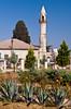 Modern street and mosque in Tarsus, Belediyesi, Turkey, Asia Minor.