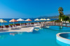 The pool area of the Best Resort Hotel in Tusucu, Turkey.