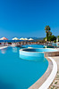 The pool area of the Best Resort Hotel in Tusucu, Turkey, Eurasia.