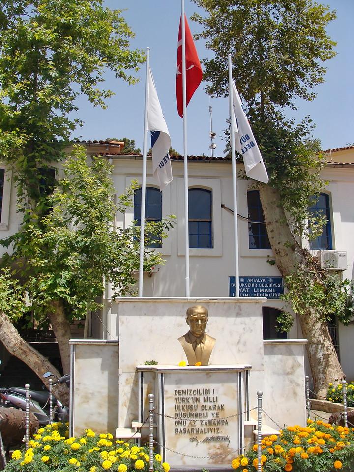 Ataturk Sculpture on Marine Navigation