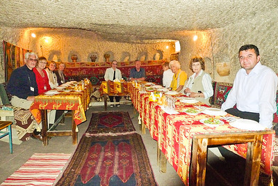 Lunch in a tufa home in Cappadocia