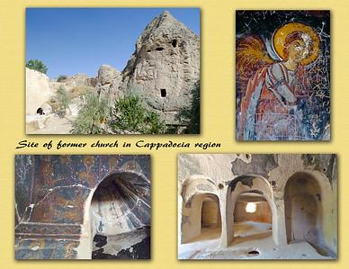 Site of former church in Cappadocia region.