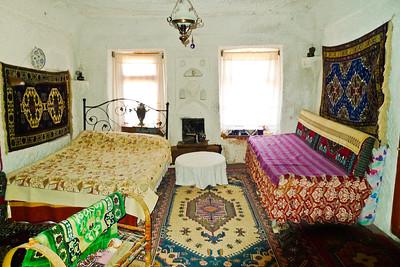 Bedroom in a tufa home in Cappadocia