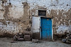 Blue door, Soloz, Turkey