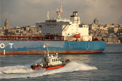 Pilot Boat, Bosporus Strait, Sea of Marmara, Istanbul, Turkey