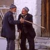 Old men with canes talking, Göreme, Cappadocia, Turkey