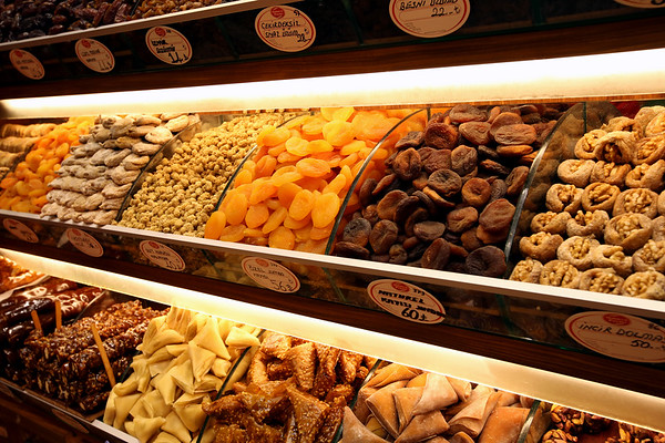 Dried Nuts and Fruit, Food Hall, Grand Bazaar, Istanbul, Turkey