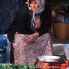 Woman merchant in market, Köycegiz, Turkey