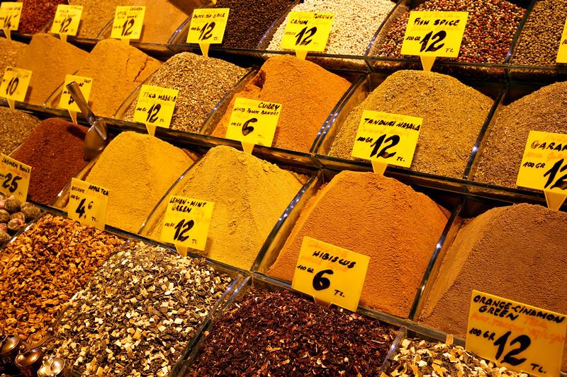 Spice Vendor, Food Hall, Grand Bazaar, Istanbul, Turkey