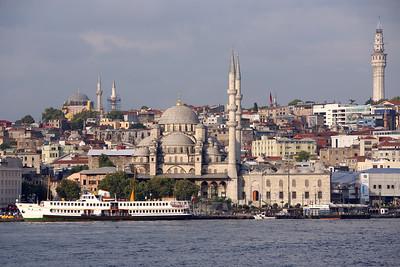 New Mosque, Yeni Cami, Bosporus Strait, Sea of Marmara, Istanbul, Turkey