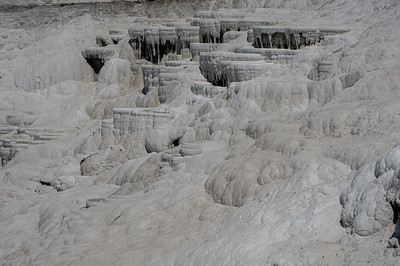 Rock formations at Pamukkale