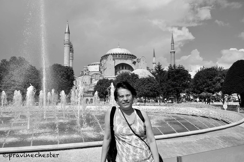 In front of Hagia Sophia
