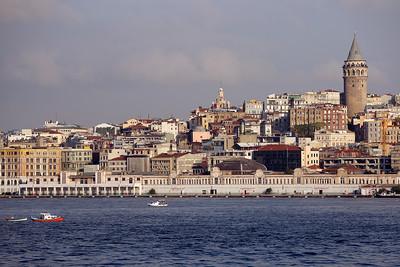 Galata Tower, Galata Kulesi, Bosporus Strait, Sea of Marmara, Istanbul, Turkey