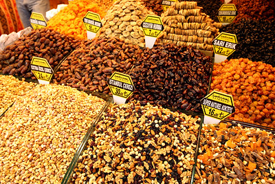 Dried Nuts and Fruit, Grand Bazaar, Istanbul, Turkey