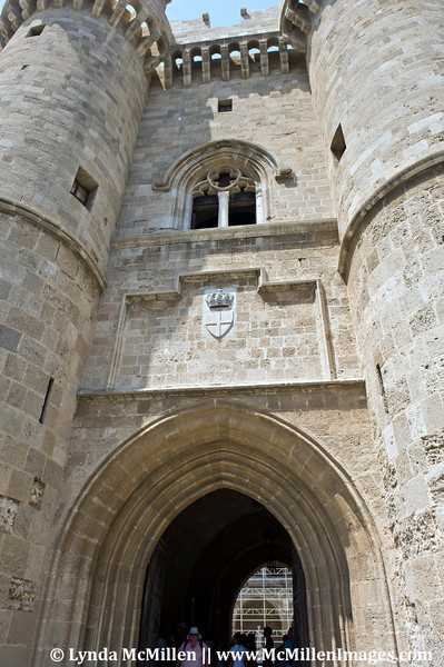 Palace of the Grand Masters built in the 14th century by the Knights of Rhodes.