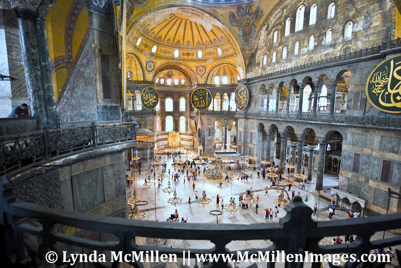 Nave and apse from upper level of Hagia Sophia.