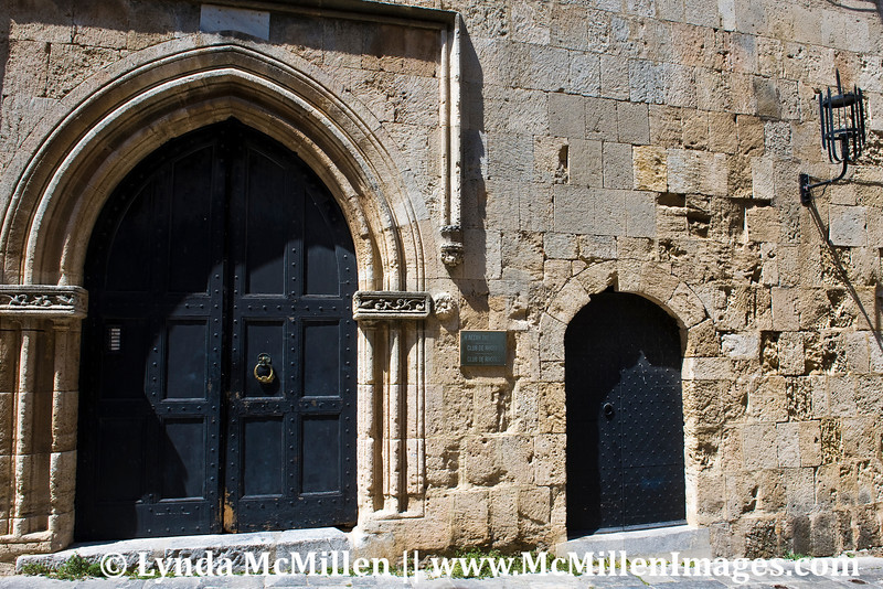 Doors to the Inns for the various nations of the Knights of St. John.