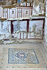 """""""Marble Hall"""" was decorated ~119 AD.  Marble panels compliment mosaic floors."""