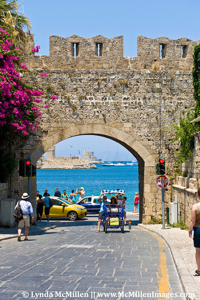 Gate of Panagia Bourgou into the ancient city.  The medieval walls are 12 meters thick and date to 408 BC.
